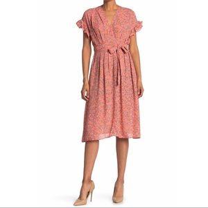 NEW Max Studio floral midi boho cottagecore dress